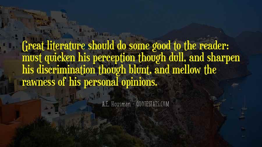 A.E. Housman Quotes #1304684