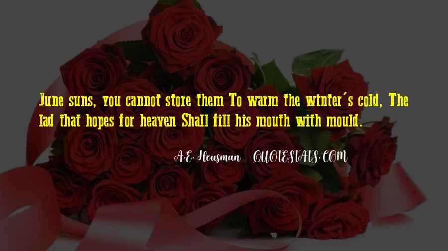 A.E. Housman Quotes #728846