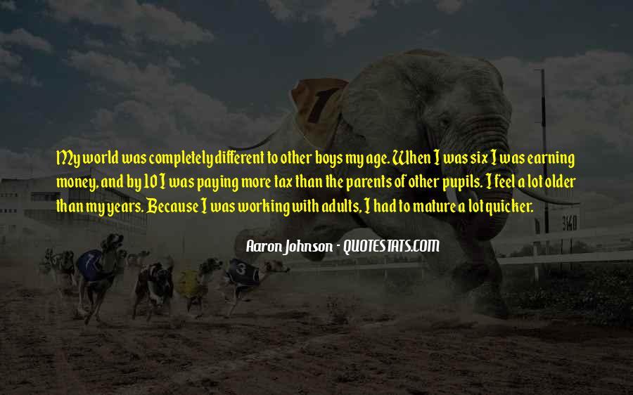 Aaron Johnson Quotes #1545074