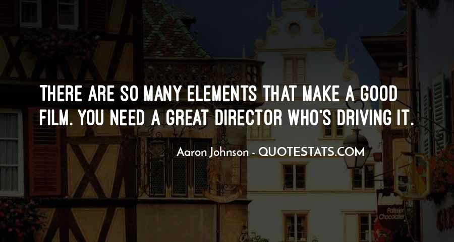 Aaron Johnson Quotes #1564417