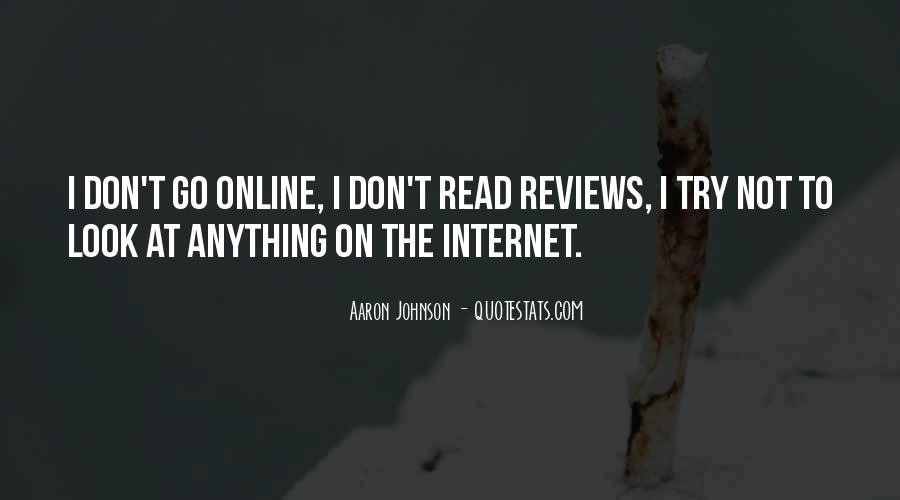 Aaron Johnson Quotes #1645223