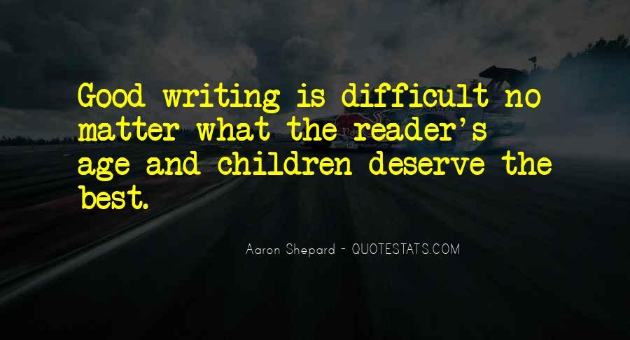 Aaron Shepard Quotes #21738