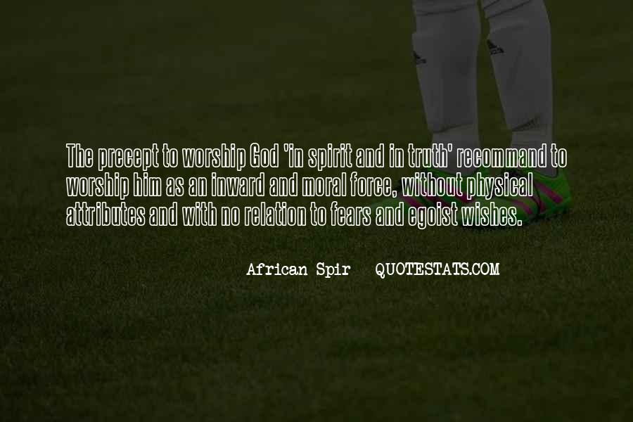 African Spir Quotes #765989