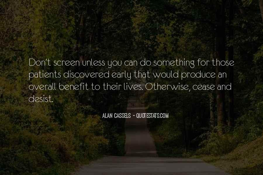 Alan Cassels Quotes #560590