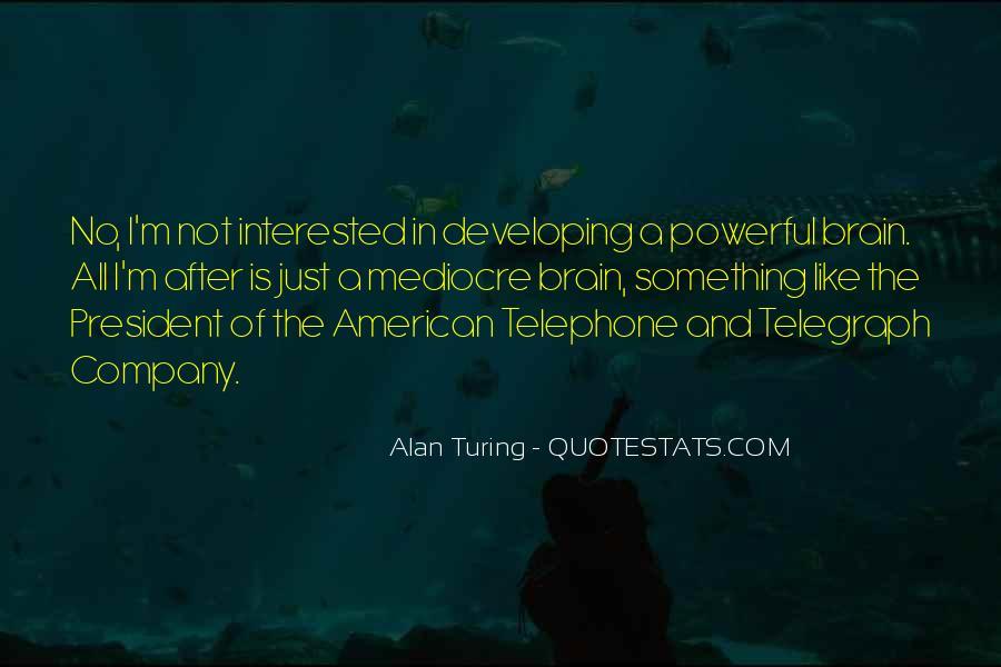 Alan Turing Quotes #112894