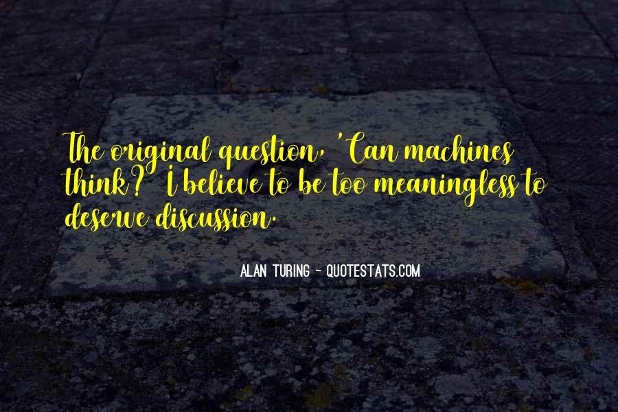 Alan Turing Quotes #1230078