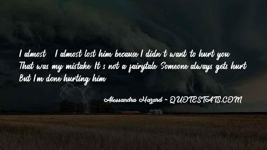 Alessandra Hazard Quotes #1356109