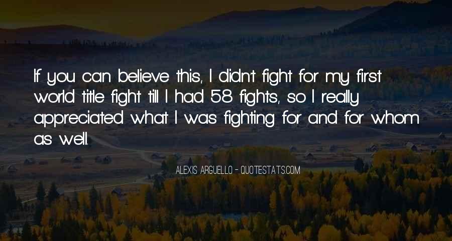 Alexis Arguello Quotes #73556