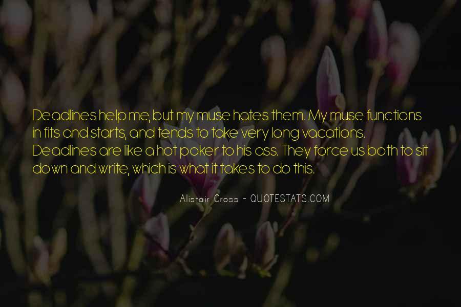 Alistair Cross Quotes #440904