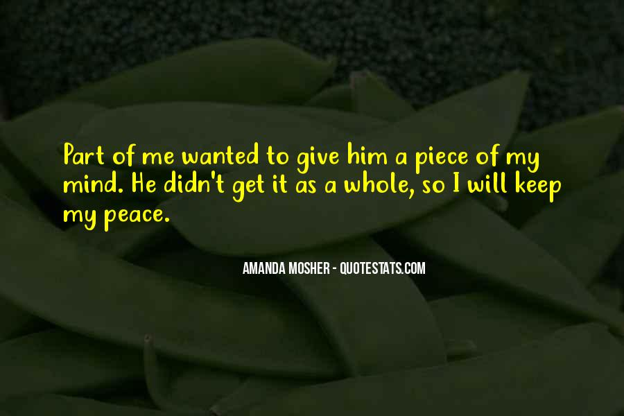 Amanda Mosher Quotes #362858