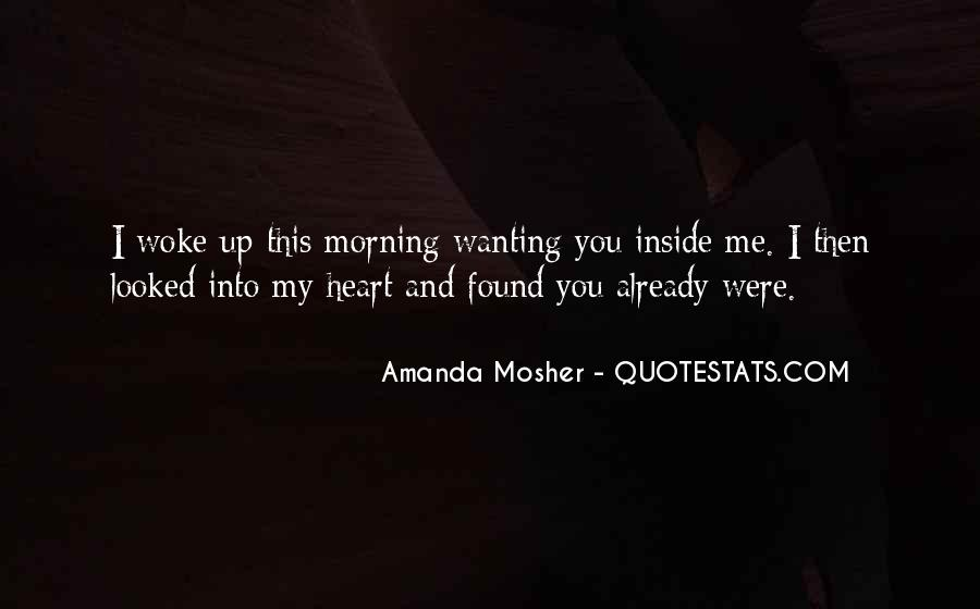 Amanda Mosher Quotes #955043