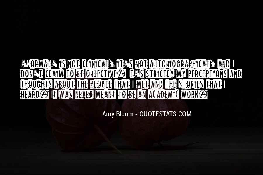 Amy Bloom Quotes #1462431