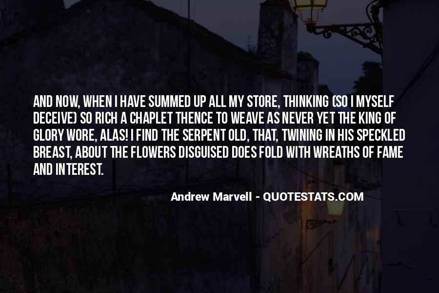 Andrew Marvell Quotes #823916