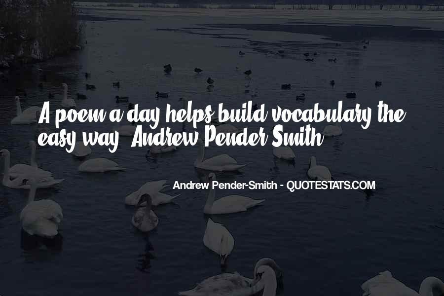 Andrew Pender-Smith Quotes #774235