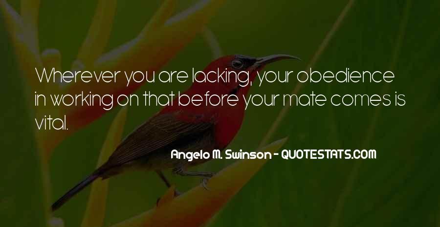 Angelo M. Swinson Quotes #536021