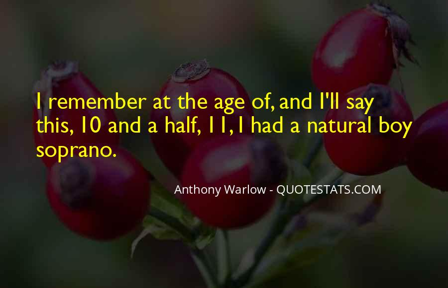 Anthony Warlow Quotes #453981