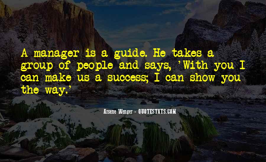 Arsene Wenger Quotes #309981
