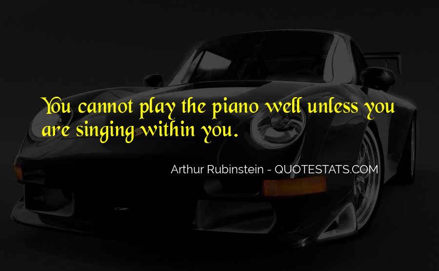 Arthur Rubinstein Quotes #85799