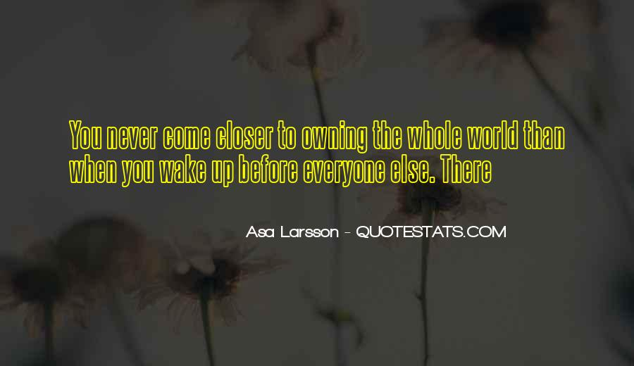 Asa Larsson Quotes #1058919