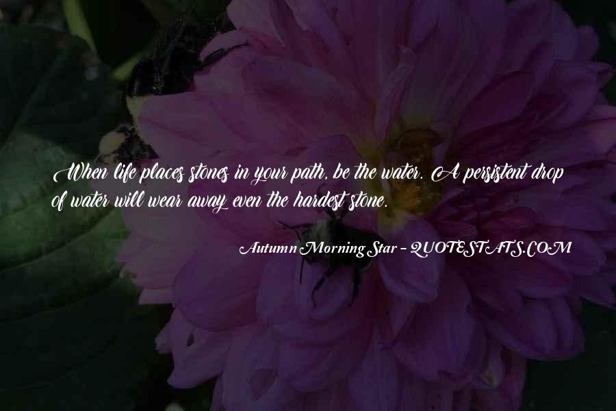 Autumn Morning Star Quotes #823229