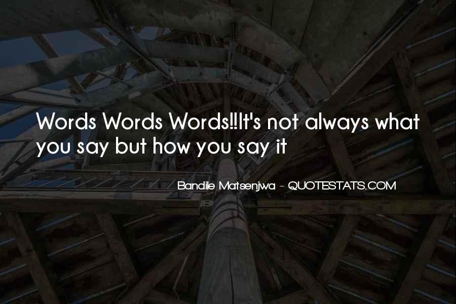 Bandile Matsenjwa Quotes #1507461