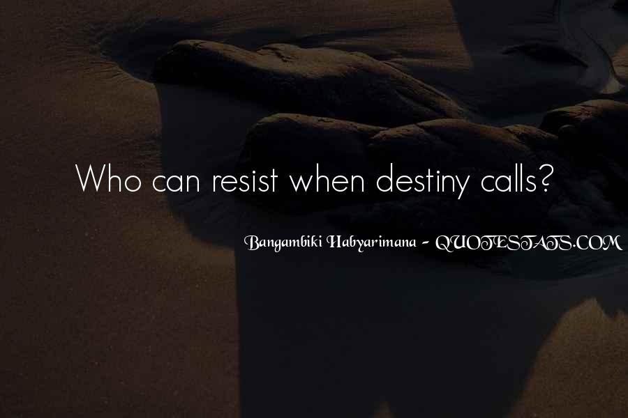 Bangambiki Habyarimana Quotes #1493593