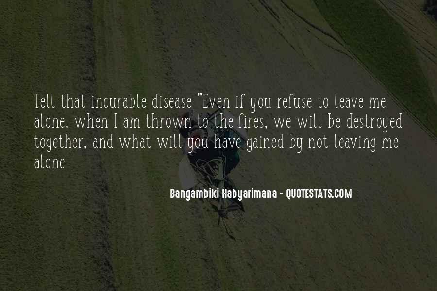 Bangambiki Habyarimana Quotes #1591807