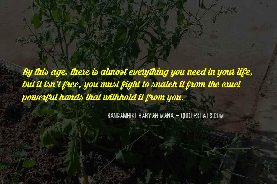 Bangambiki Habyarimana Quotes #1842364