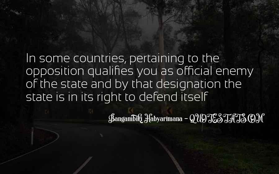 Bangambiki Habyarimana Quotes #464037