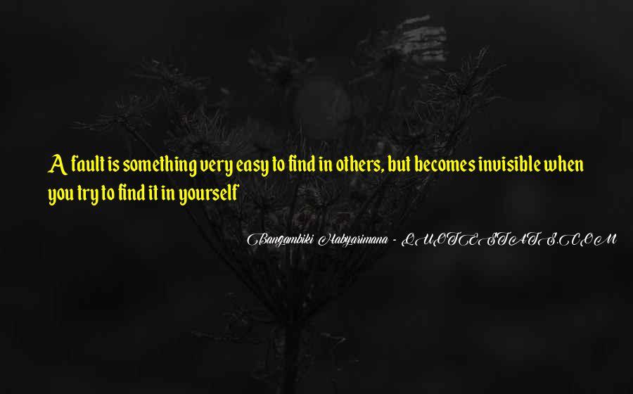 Bangambiki Habyarimana Quotes #504310