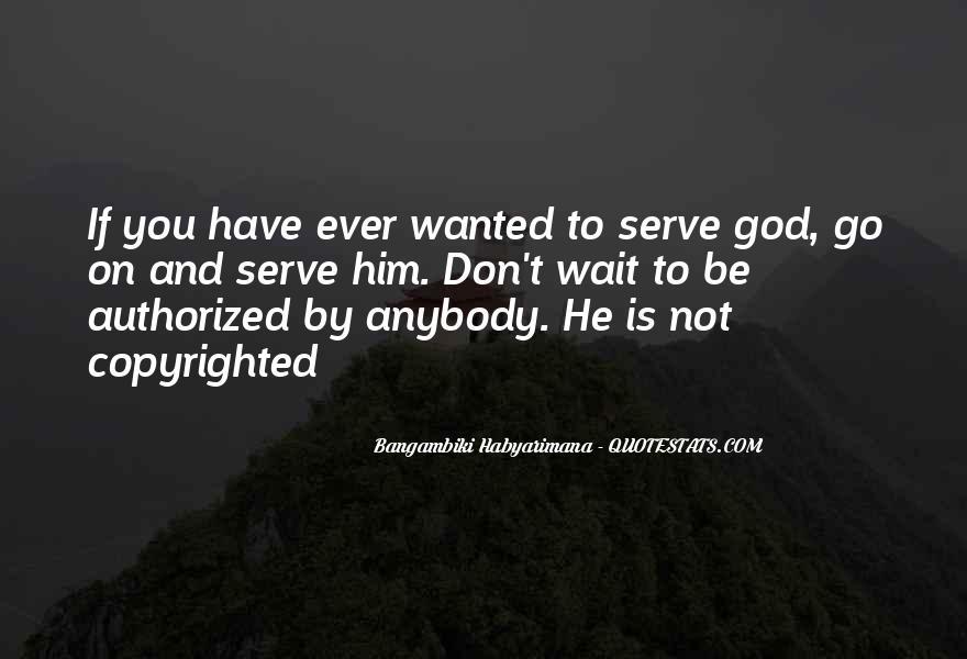 Bangambiki Habyarimana Quotes #517419