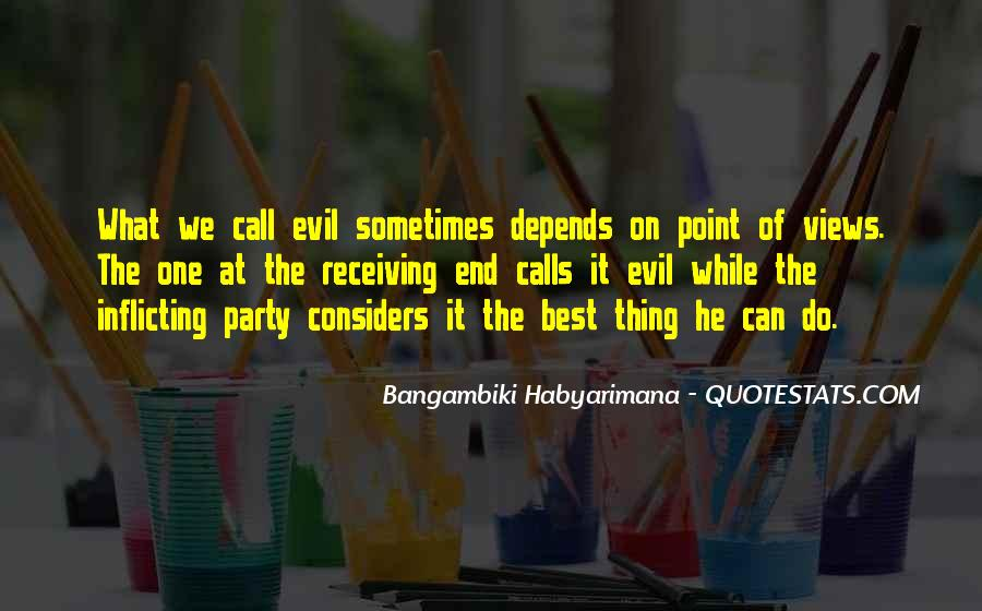 Bangambiki Habyarimana Quotes #593514