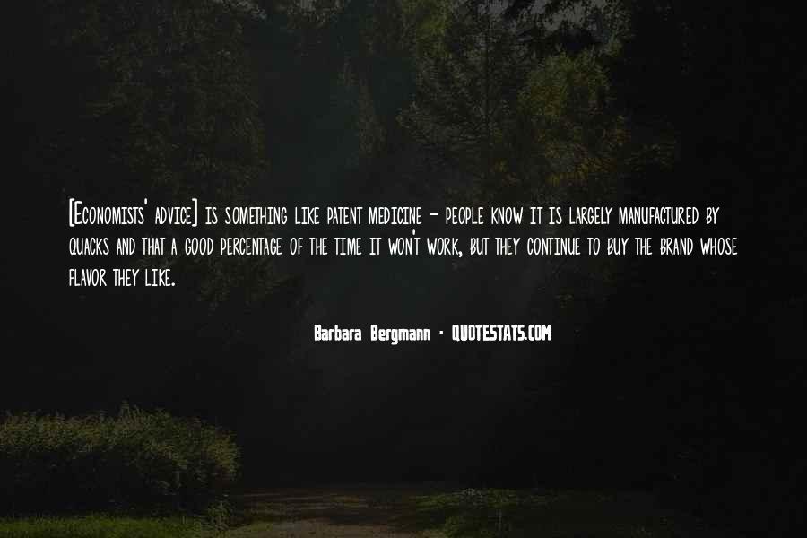 Barbara Bergmann Quotes #468715