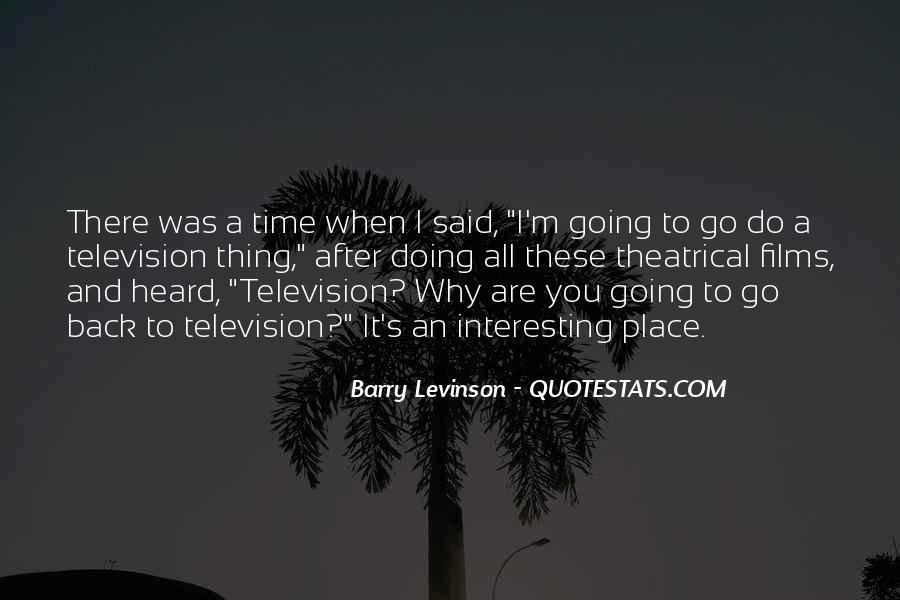Barry Levinson Quotes #39156