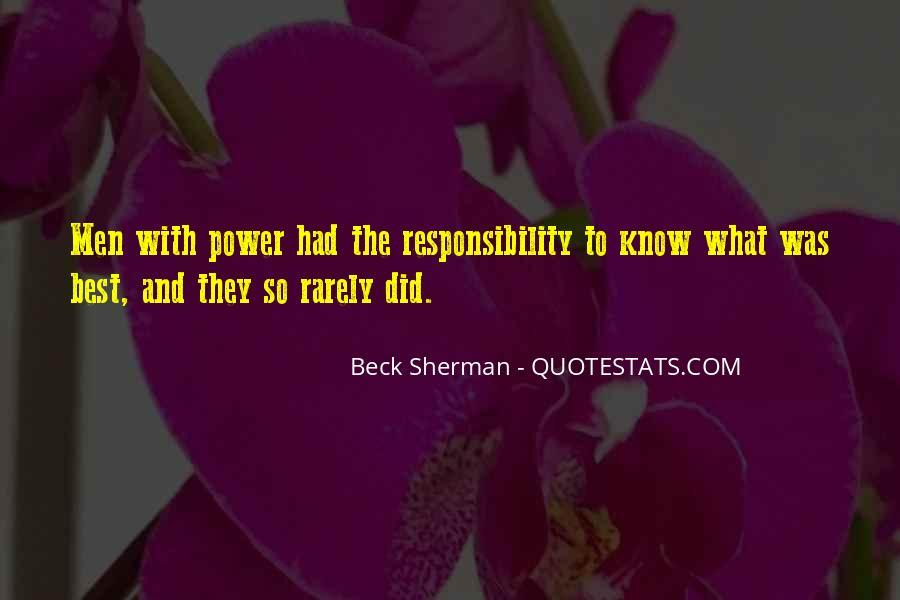 Beck Sherman Quotes #1064508