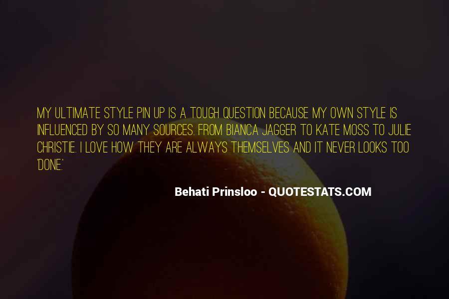 Behati Prinsloo Quotes #1292075
