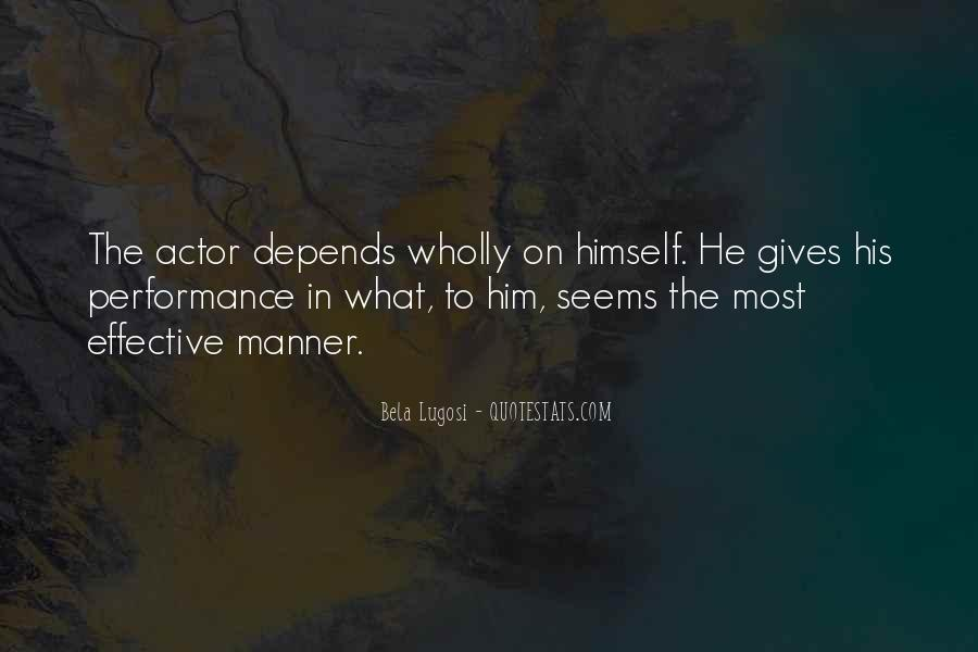 Bela Lugosi Quotes #1187250