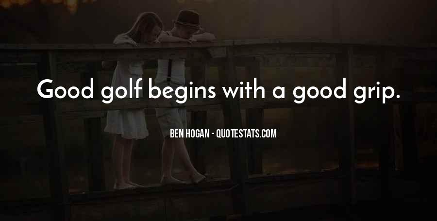 Ben Hogan Quotes #1527360
