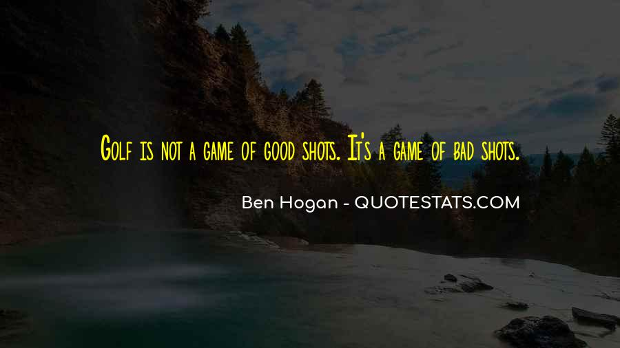 Ben Hogan Quotes #551171