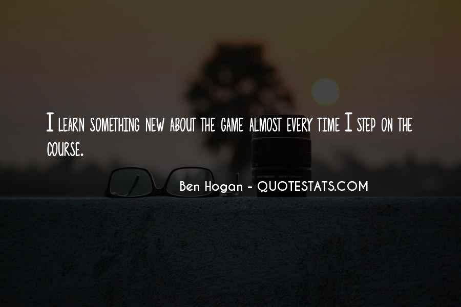 Ben Hogan Quotes #580800