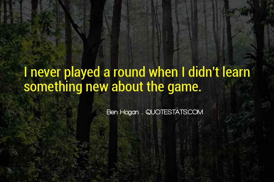 Ben Hogan Quotes #98873