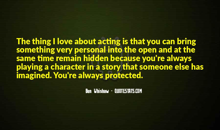 Ben Whishaw Quotes #1361417