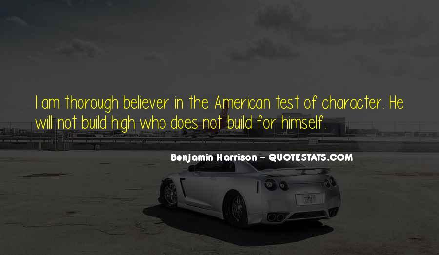 Benjamin Harrison Quotes #1620212