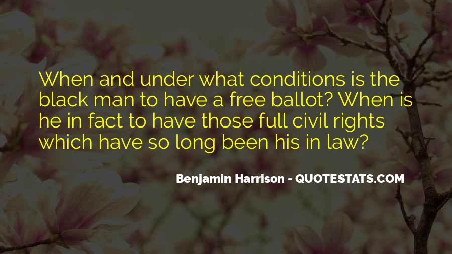 Benjamin Harrison Quotes #190258
