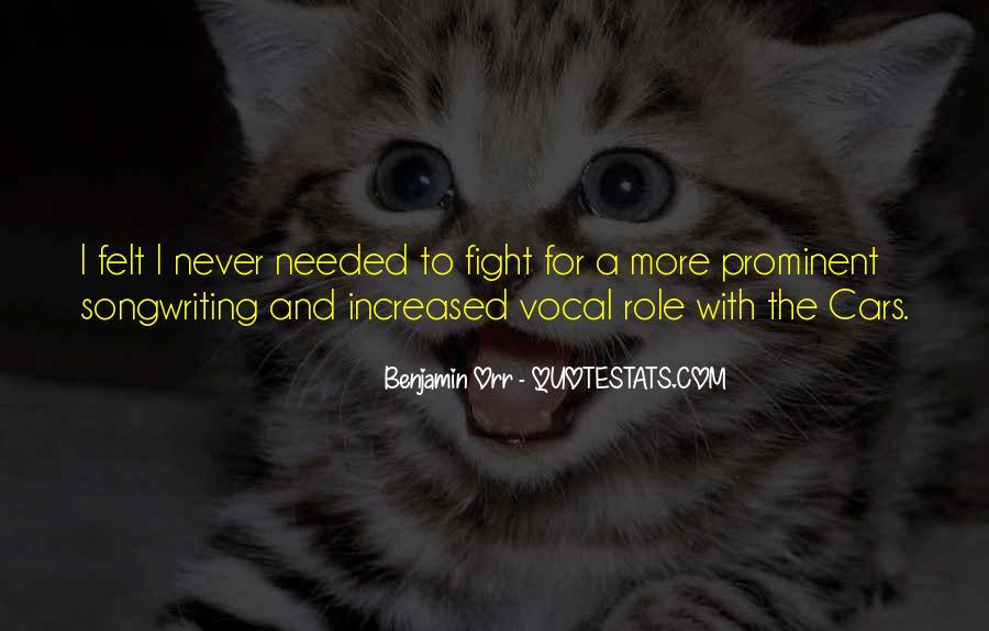 Benjamin Orr Quotes #566529