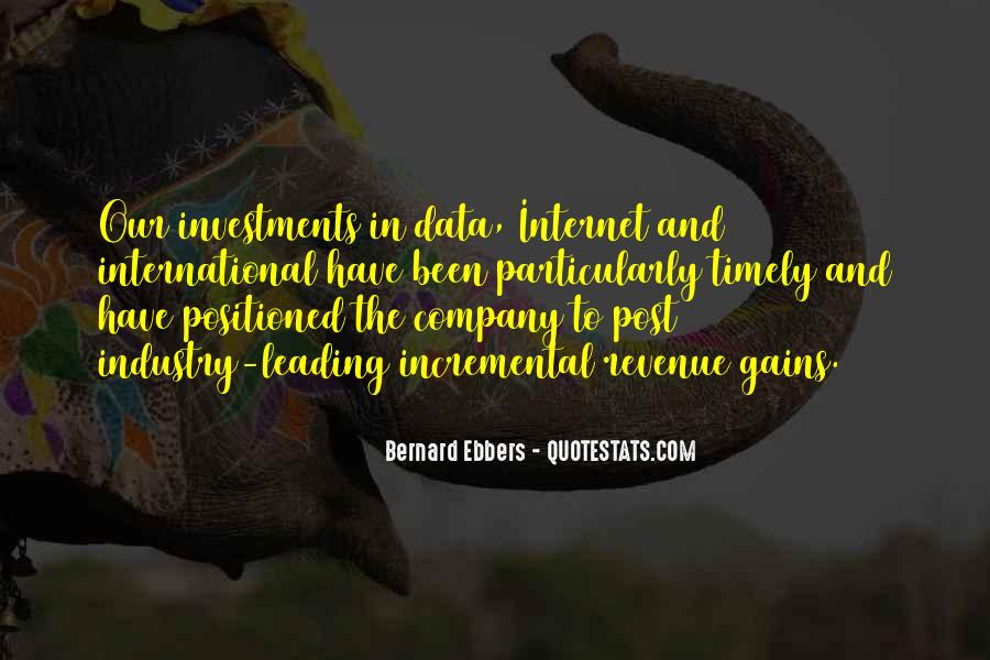 Bernard Ebbers Quotes #227139