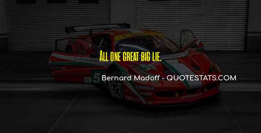 Bernard Madoff Quotes #77816