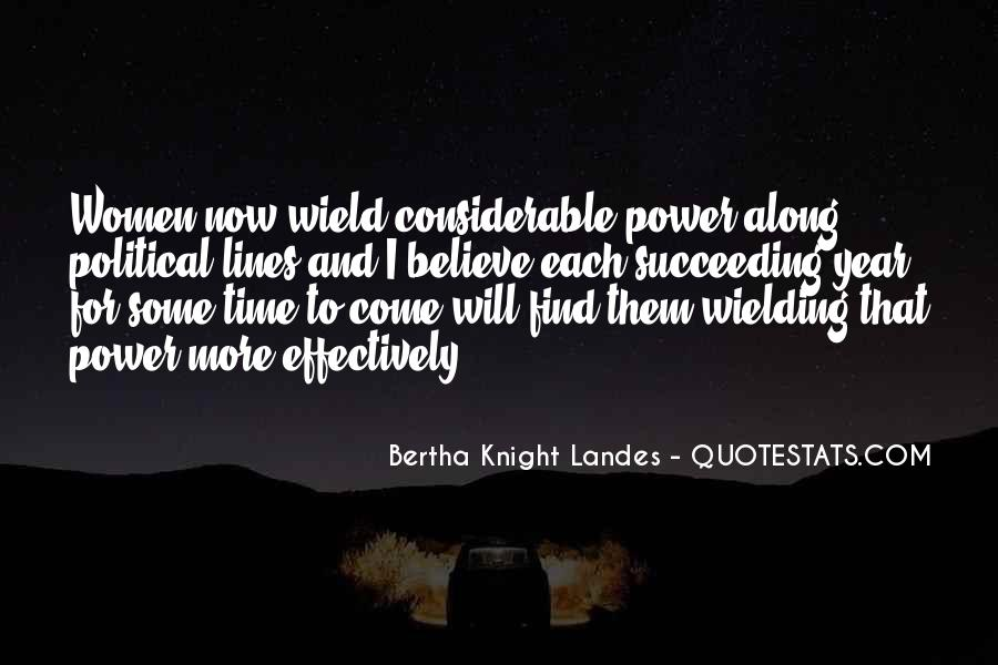 Bertha Knight Landes Quotes #894728