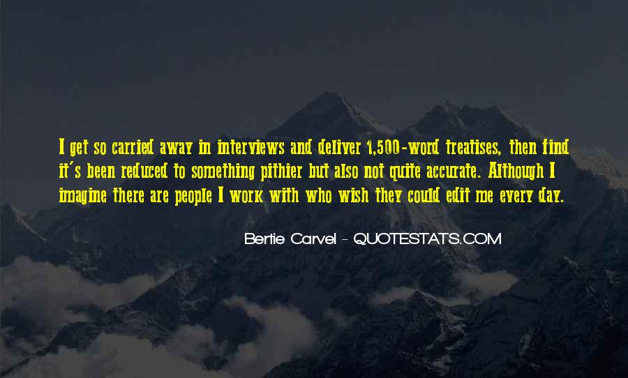 Bertie Carvel Quotes #556294