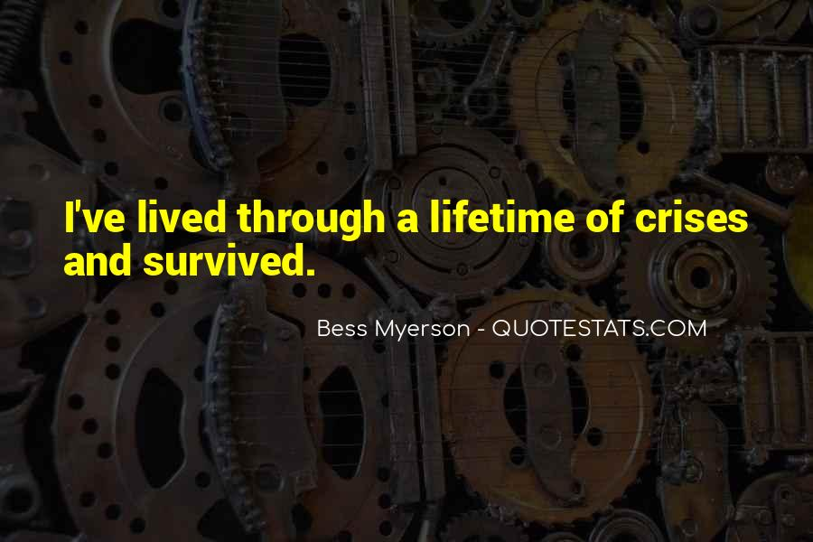 Bess Myerson Quotes #1462440